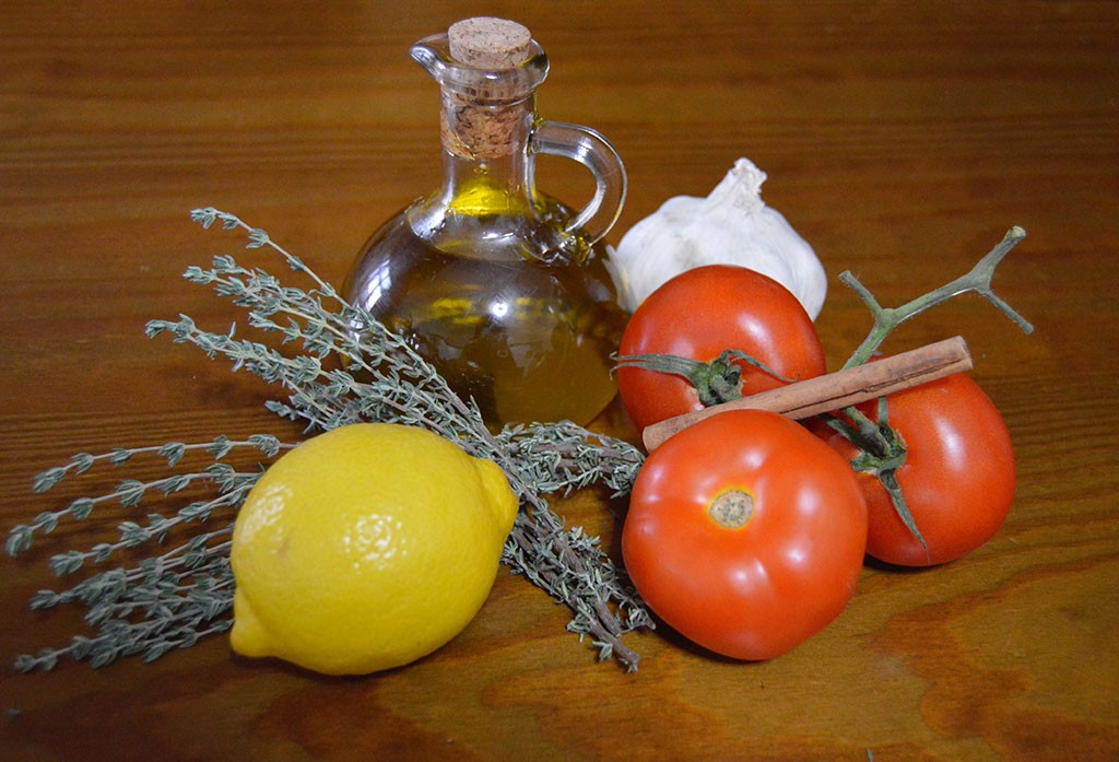 Receta menú con tomate